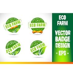 Eco farm Badge vector image