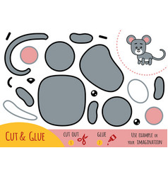 education paper game for children mouse vector image