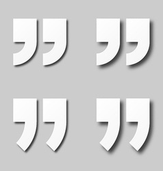 EPS10 blank white paper quotation marks vector