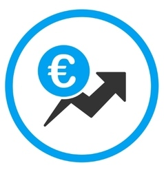 Euro Sales Growth Rounded Icon vector