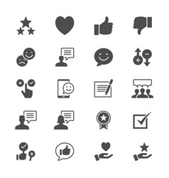 Feedback and review flat icons vector