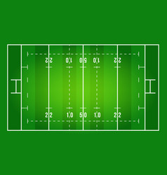 flat green rugby field top rugby field rugby field vector image