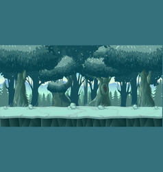 forest and stones 2d game landscape for games vector image