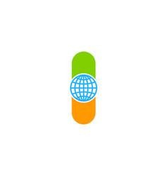 globe medicine logo icon design vector image