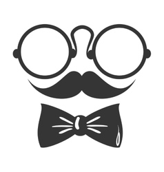Googles mustache tie vector
