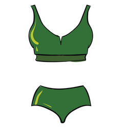 green swimsuit on white background vector image