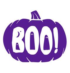 Halloween purple boo pumpkin graphic vector