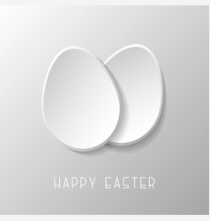 happy easter card with paper origami eggs holiday vector image