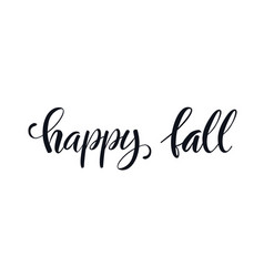 hello fall lettering text black and white vector image