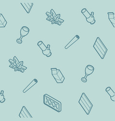 holland outline isometric pattern vector image