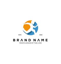 Human run logo design vector