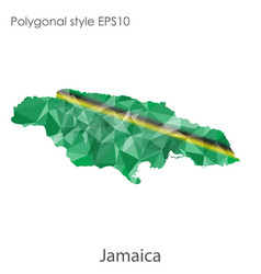 Isolated icon jamaica map polygonal geometric vector