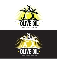 Logo Set about olive oil vector image
