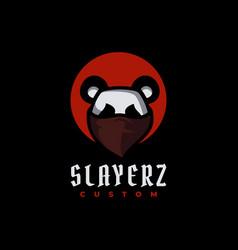 logo slayer simple mascot style vector image