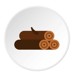 Logs of trees icon circle vector