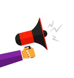loud megaphone speaker vector image