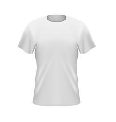 mans t-shirt front vector image