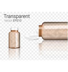 Mock up realistic amber glass transparent vector