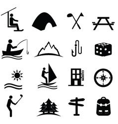 outdoor activities vector image