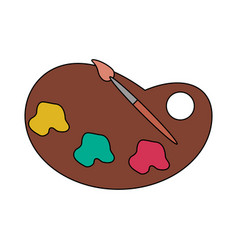 paint icon image vector image