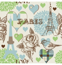 Paris seamless pattern vector