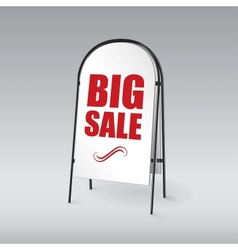 Pavement sign with the text big sales vector image