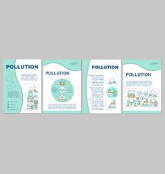 Pollution brochure template flyer booklet leaflet vector