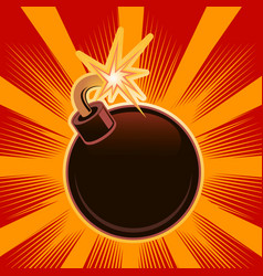poster of a bomb on a bright background vector image