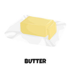 Realistic butter on package vector