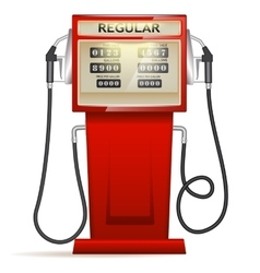 Red petrol station in USA vector