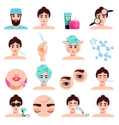 rejuvenation treatments set vector image