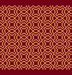 seamless ornament modern stylish geometric linear vector image