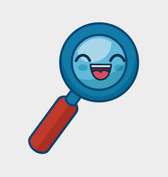 Search magnifying glass character icon vector