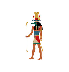 seb god water and flood nile with head of vector image