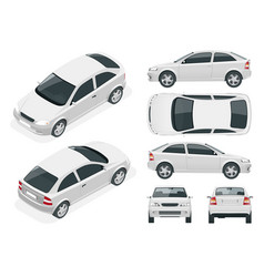 Set of sedan cars vector