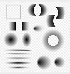 shadows of different shapes vector image
