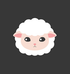 sheep face icon vector image