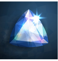 Shiny abstract blue gemstone vector