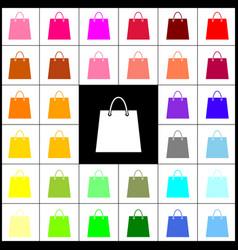 shopping bag felt-pen 33 vector image