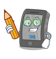 Student ipad isolated with in character vector