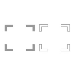 Symbol full screen it is black icon vector