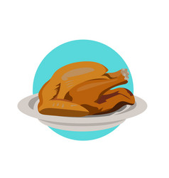 Thanksgiving turkey simple for vector