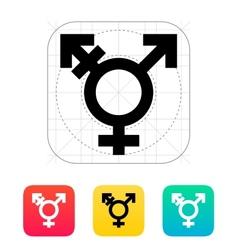 Transgender icon vector image