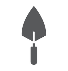 Trowel glyph icon tool and repair bricklayer vector