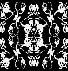vintage beautiful seamless pattern baroque vector image