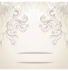 Vintage elegant background for invitations vector image