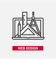 Web design - modern line design icon vector