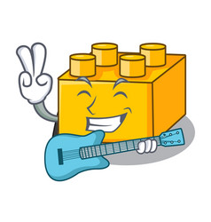 With guitar building blocks tyos isolated on vector