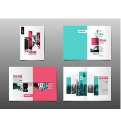 annual report template layout design cover book vector image vector image