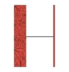 Decorative letter shape H vector image